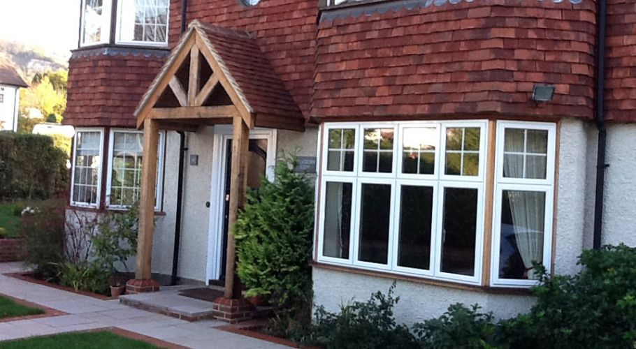 Timber framed porch